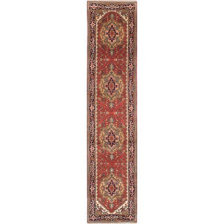 eCarpetGallery Serapi Heritage Brown Wool Hand-knotted Rug (2'6 x 11'10)