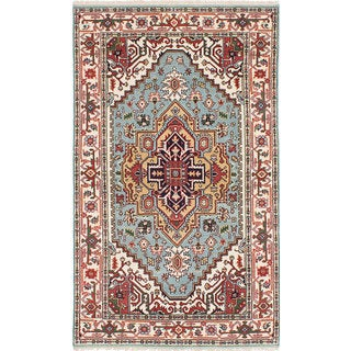 eCarpetGallery Serapi Heritage Blue Wool Hand-knotted Rug (4'8 x 8'0)