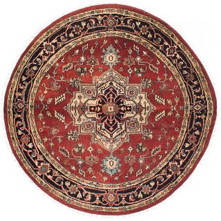 eCarpetGallery Hand-knotted Serapi Heritage Red/Cream/Brown Wool Rug (6'1 x 6'1)