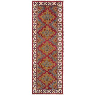 eCarpetGallery Royal Kazak Red Wool Hand-knotted Rug (2'8 x 8'1)