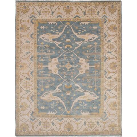 eCarpetGallery Hand-knotted Royal Ushak Blue Wool Rug - 9'3 x 11'10