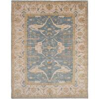 eCarpetGallery Hand-knotted Royal Ushak Blue Wool Rug - 9'3 x 11'10