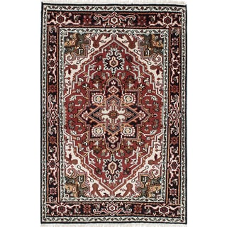 eCarpetGallery Royal Heriz Red Wool Hand-knotted Rug (4'0 x 5'11)