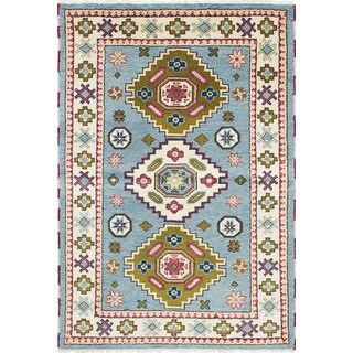 eCarpetGallery Royal Kazak Blue Wool Hand-knotted Rug (3'11 x 5'11)
