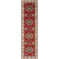 eCarpetGallery Royal Kazak Red Wool Hand-knotted Rug (2'8 x 9'10)