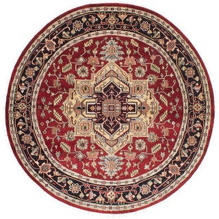 eCarpetGallery Red Wool Hand-knotted Serapi Heritage Rug (7'11 x 7'11)