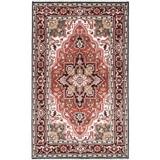 eCarpetGallery Royal Heriz Brown Wool Hand-knotted Oriental Area Rug (5'3 x 8'3)