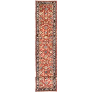 eCarpetGallery Serapi Heritage Brown Wool Hand-knotted Rug (2'7 x 15'5)