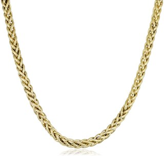 Fremada Yellow Gold Filled Bold 6mm Franco Link Chain Necklace