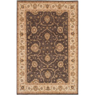 eCarpetGallery Chobi Brown Wool/Cotton Hand-knotted Rug (6'6 x 10'0)