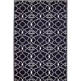 Nexus Navy Polypropylene Machine-made Rug (4'10 x 7'2)