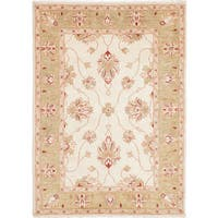 eCarpetGallery Chubi Collection Ivory Wool Hand-knotted Rug (4'0 x 5'10)