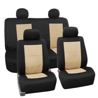 FH Group Premium EVA Foam Waterproof Car Seat Covers (Full Set) Beige