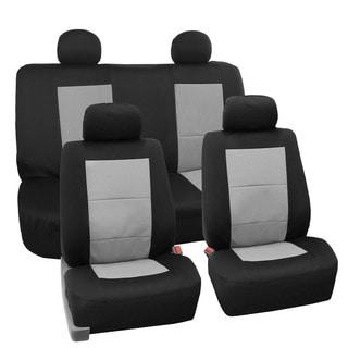 FH Group Premium EVA Foam Waterproof Car Seat Covers (Full Set) Gray