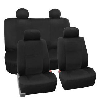 FH Group Premium EVA Foam Waterproof Car Seat Covers (Full Set) Black