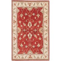 eCarpetGallery Hand-knotted Chobi Twisted Red Wool and Cotton Oriental Area Rug (4' x 6'6)