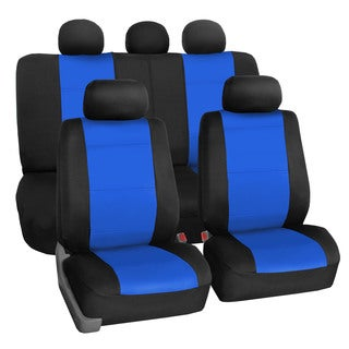 FH Group Neoprene Water Resistent Seat Covers Blue (Full Set)