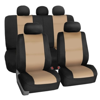 FH Group Neoprene Water Resistent Seat Covers Beige (Full Set)