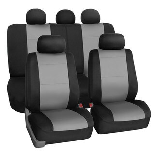 FH Group Neoprene Water Resistent Seat Covers Gray (Full Set)