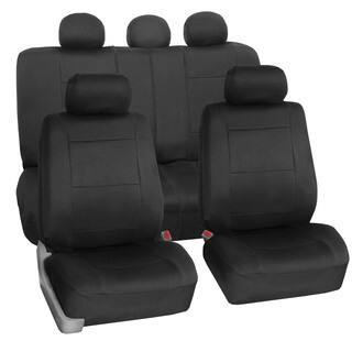 FH Group Neoprene Water Resistent Seat Covers Black Full Set