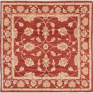 eCarpetGallery Chubi Collection Red Wool and Cotton Hand-knotted Oriental Rug (5'3 x 5'3)