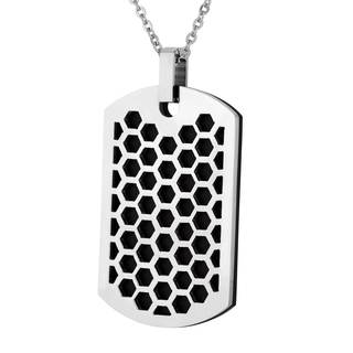 Men's Stainless Steel Honeycomb Dog Tag