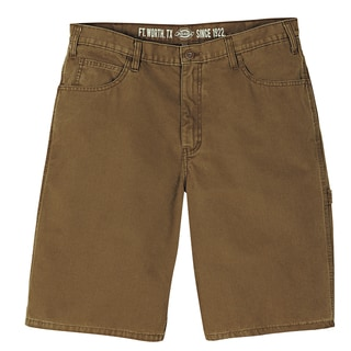 Dickies DX250RBD Brown Relaxed Fit Lightweight Duck Carpenter Short