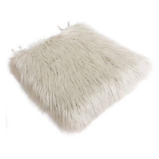 Thro by Marlo Lorenz Keller Faux Mongolian Fur Seat Cushion