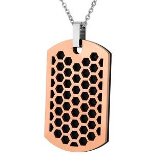 Men's Stainless Steel Two-Piece Honeycomb Dog Tag