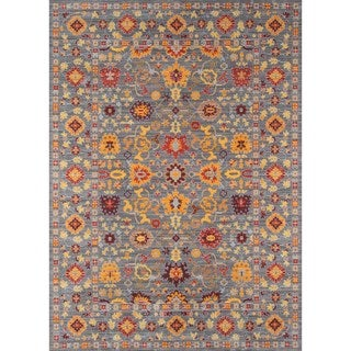 Machine-Made Fallon Grey Polyester Rug (9' x 12')