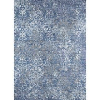 Machine-Made Artelia Blue Polyester Rug (9' x 12')