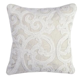 Kosas Home Darren Ivory Cotton Blend 18 x 18 Throw Pillow