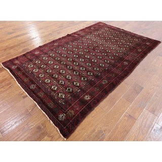 Hand-knotted Oriental Persian Bokhara Wool On Wool Rug (4' 10 x 8' 1)