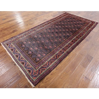 Hand-knotted Oriental Persian Multi Wool On Wool Rug (4' 2 x 8' 6)