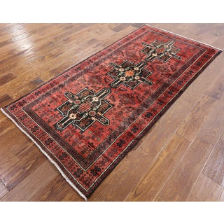Persian Red Wool Hand-knotted Oriental Rug (3'4 x 6'10)