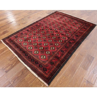 Hand-knotted Oriental Persian Bokhara Red Wool On Wool Rug (4' 4 x 6' 6)