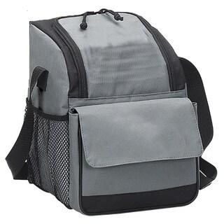 Preferred Nation Black/Grey Polyester Triangular Cooler Lunch Bag (Option: Grey)
