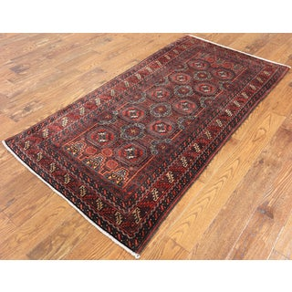 Persian Red Wool Hand-knotted Oriental Rug (3'3 x 6'6)