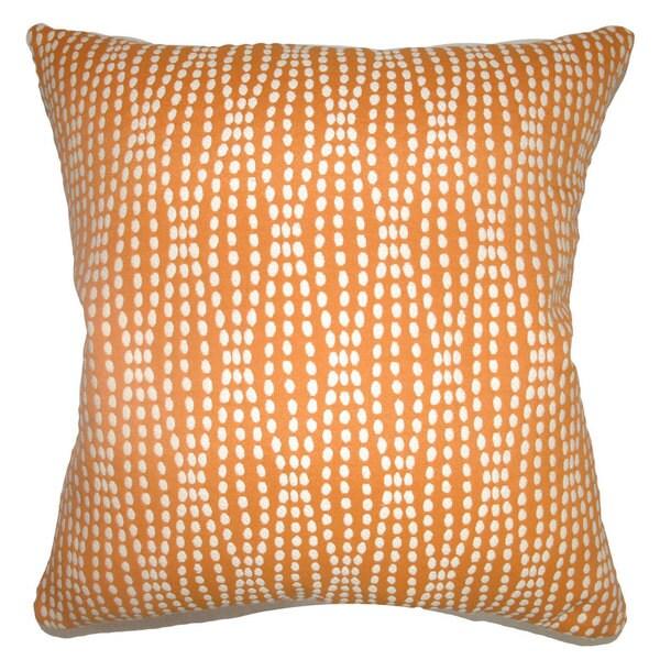 Udell Geometric Euro Sham Tangerine