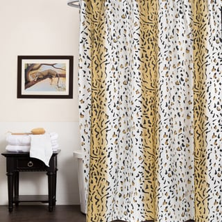 Beige Animal Print Fabric Shower Curtain (70'x72')