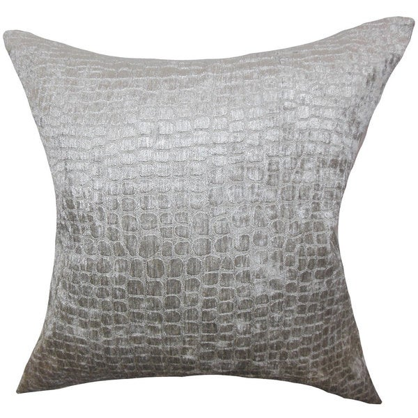 Shop Jensine Solid Euro Sham Silver Free Shipping Today