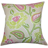 Mare Floral Euro Sham Green