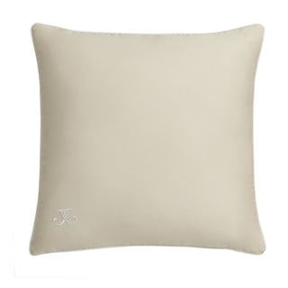 Jill Rosenwald Blackpoint Hex Square Parchment Beige Embroidered Decorative Pillow 16-inch