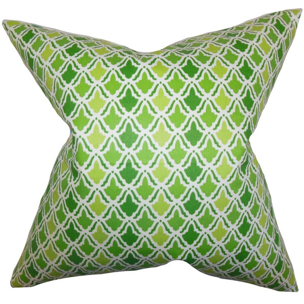 Oan Geometric Euro Sham Green