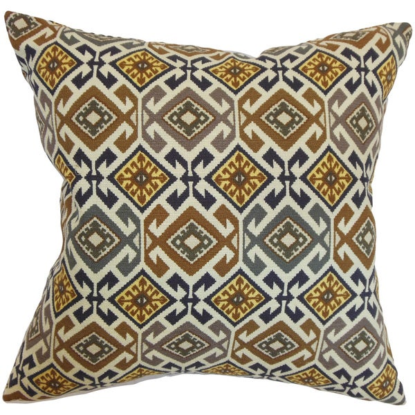 Ealhhun Geometric Euro Sham Black/Brown