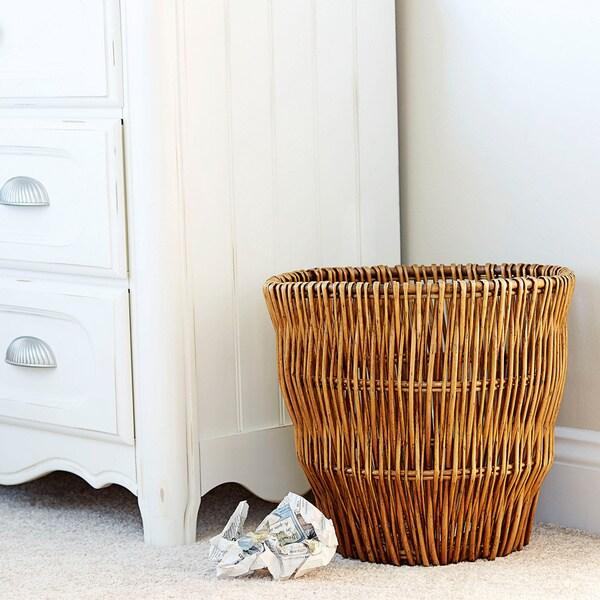 Medium Reed Willow Waste Basket