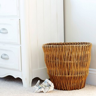 Medium Reed Willow Waste Basket