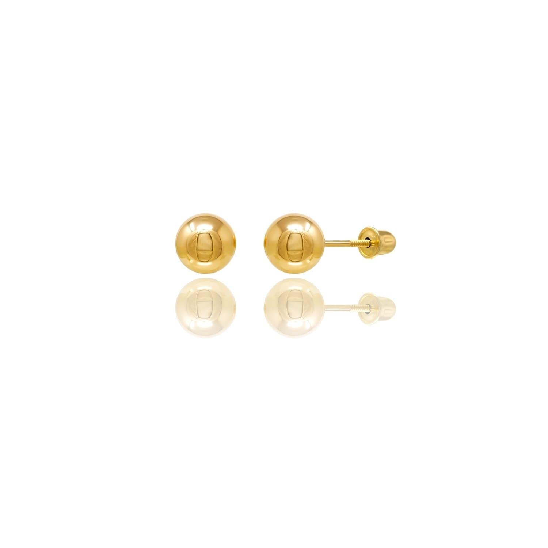14Kt Gold Button Earring Button Earrings