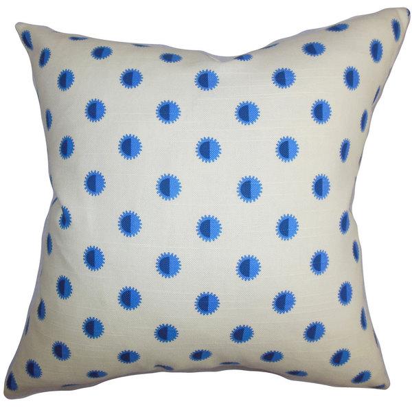 Banu Geometric Euro Sham Blue White