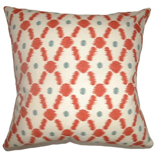 Farlow Geometric Euro Sham Poppy Red